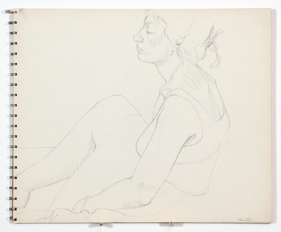 1962 circa, Untitled, Graphite, 13.875x16.75, SB#1, PPS 1010.JPG