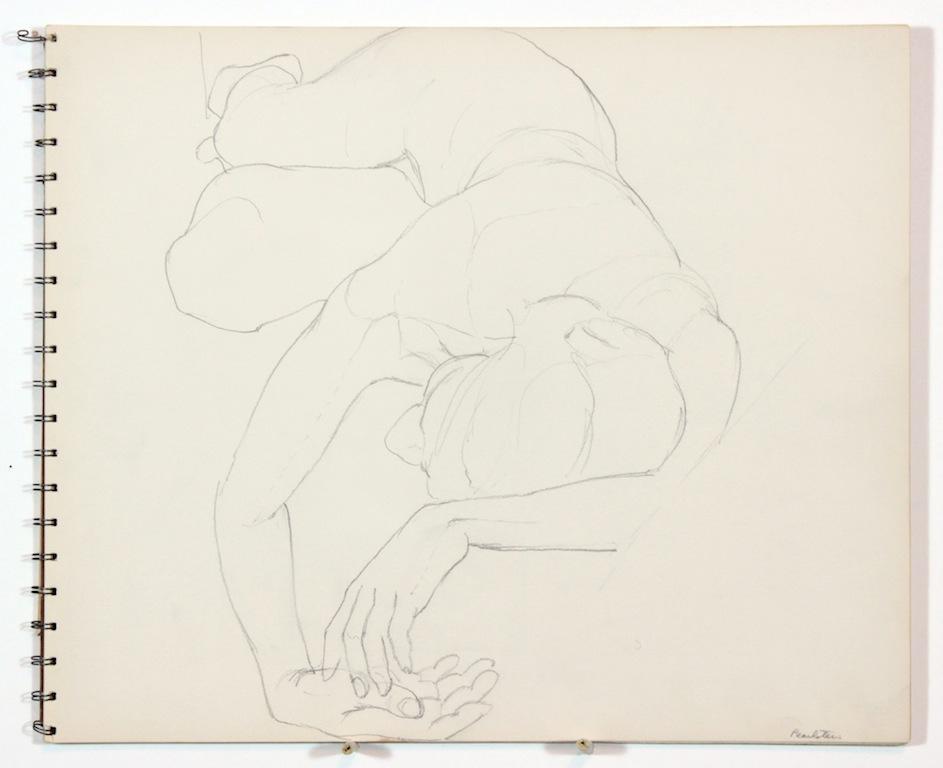 1962 circa, Untitled, Graphite, 13.875x16.75, SB#1, PPS 1009.JPG