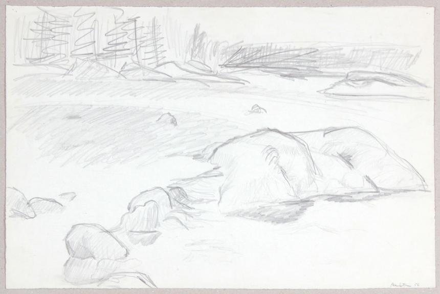 1956, Inlet, Graphite, 12.25x18.875, PPS 948.JPG