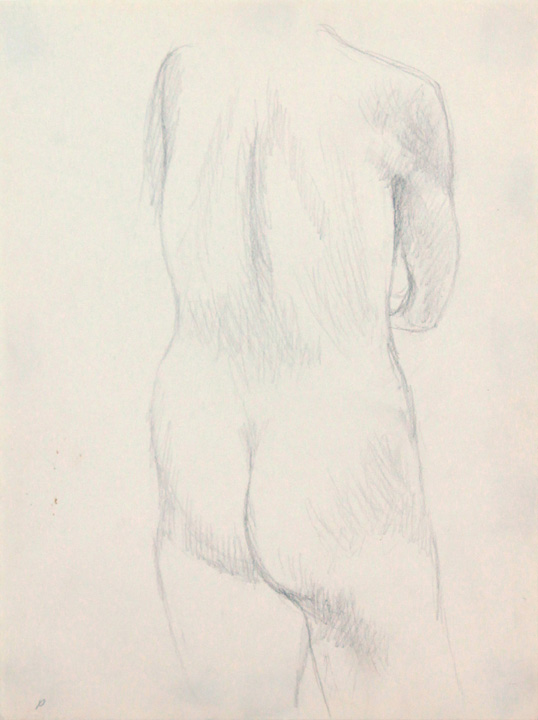 ND, Back of Nude, Pencil, 12x9, PPS 860.jpg