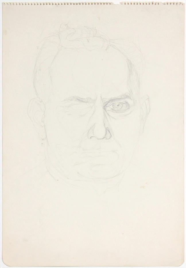 ND, David Pearlstein (Portrait), pencil, 17.875x11.875, PPS 889.jpg