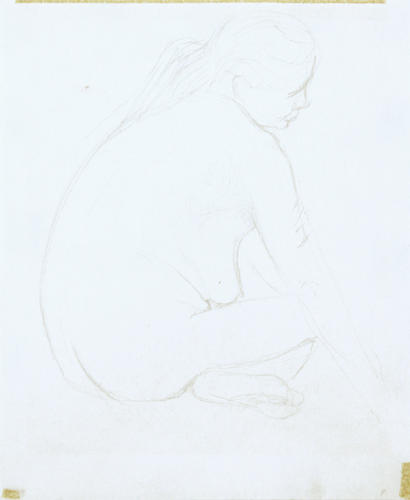 ND, Female Model Seating with Legs Crossed, Pencil, 11.125x9, PPS 864.jpg