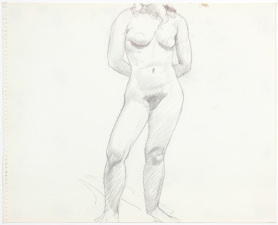 ND, Female Model Standing in Studio, Pencil, 13.75x16.875, PPS 907.jpg