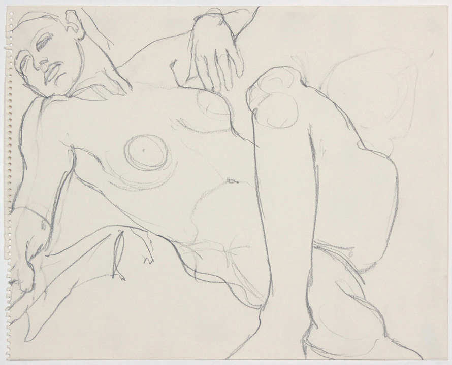 ND, Female Nude Leaning Back, Pencil, 11x14, PPS 877.jpg