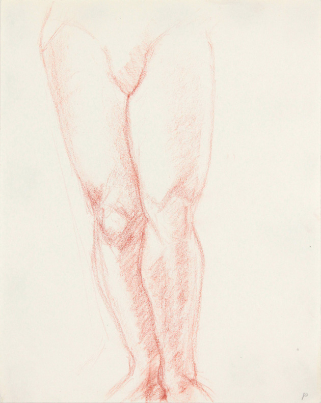 ND, Legs of Female Standing, Red Pencil, 11x8.5, PPS 869.jpg