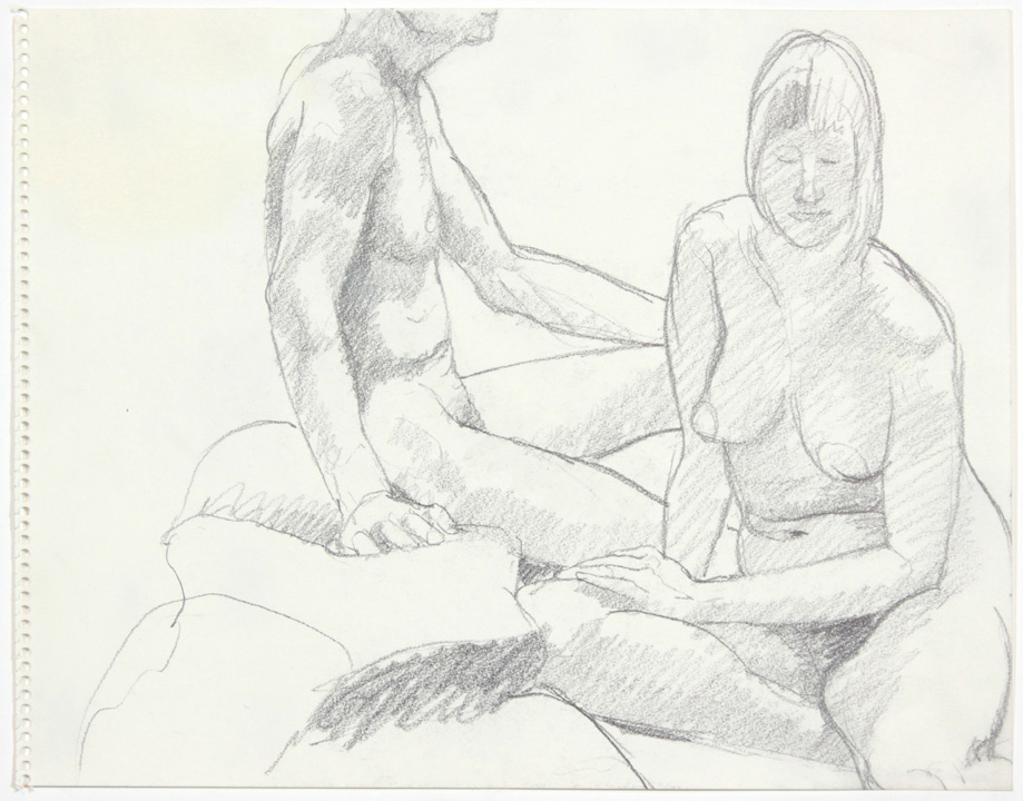 ND, Male and Female Models Seated, Pencil, 11x14, PPS 876.jpg