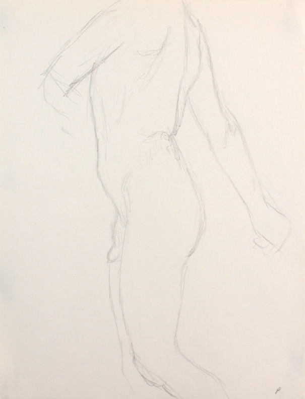 ND, Male Nude Twisting, Pencil, 12x9, PPS 846.JPG