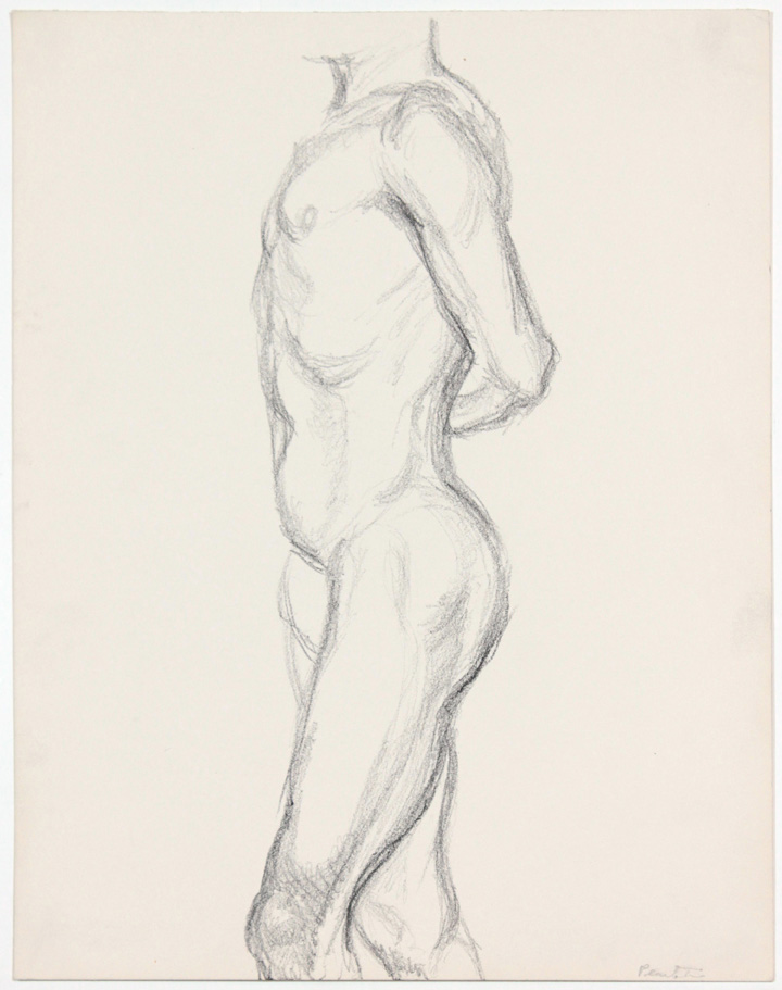 ND, Male Standing with Arm Behind back, Pencil, 13.875x10.875, PPS 880.jpg