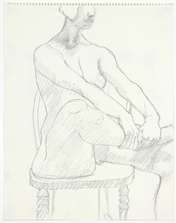 ND, Model Seated on Chair, Pencil, 14x11, PPS 878.jpg