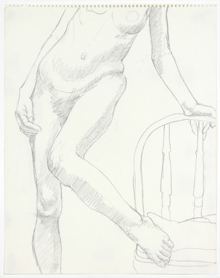 ND, Model with Chair, Pencil 14x11, PPS 879.jpg