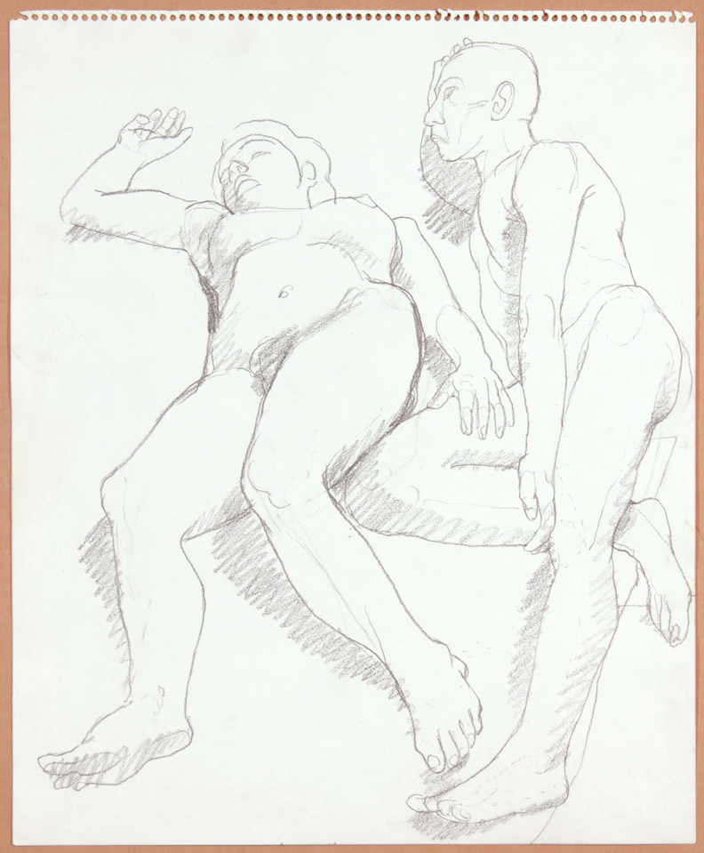 ND, Reclined Female and Male Nudes, Pencil, 17x14, PPS 913.jpg