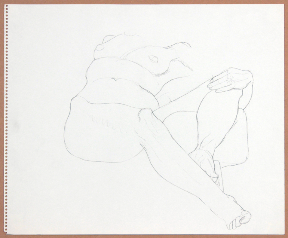 ND, Reclined Female with Leg Raised, Pencil, 14x17, col. Osamu Kobayashi, PPS 909.jpg