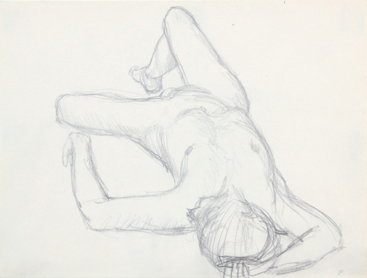 ND, Reclining Nude with Arm Over Head, Pencil, 9x12, PPS 858.jpg