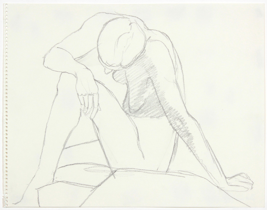 ND, Seated Female Twisted, Pencil, 11x14, col. Candace Mills, PPS 875.jpg