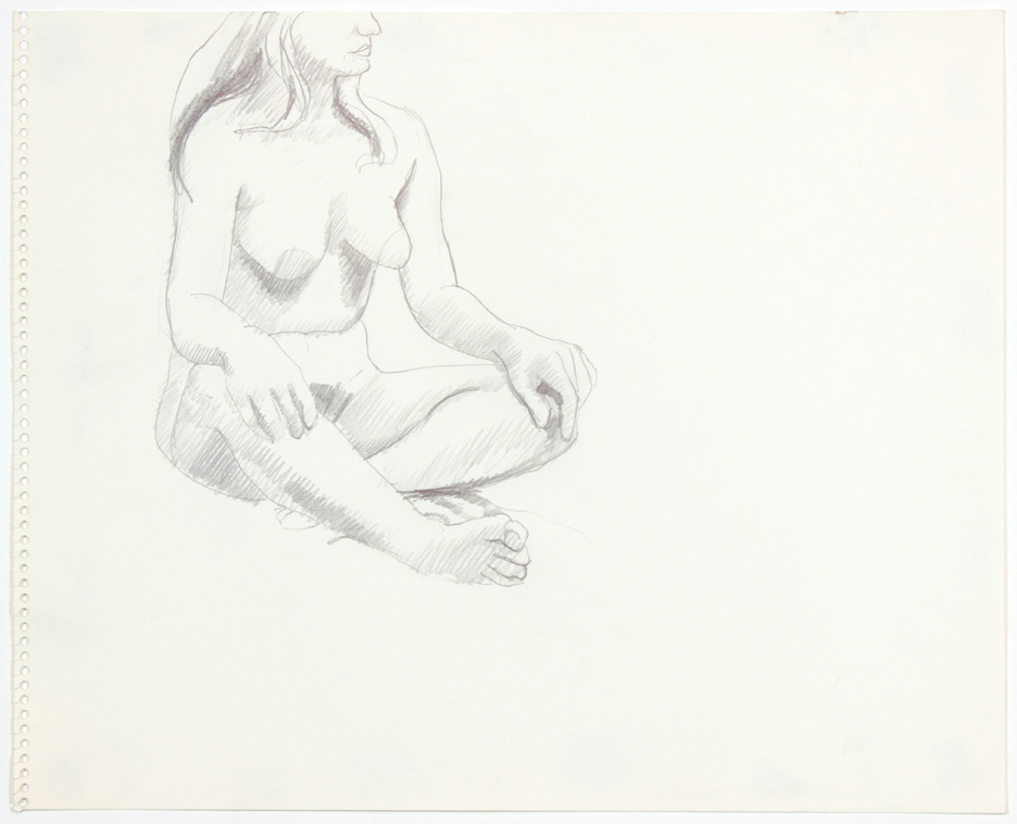 ND, Seated Female with Crossed Legs, Pencil, 13.75x17x, PPS 906.jpg