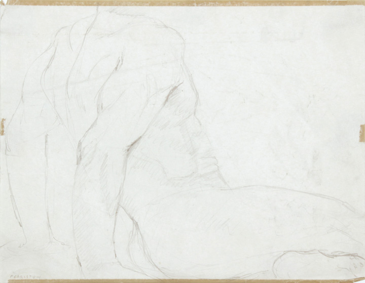 ND, Seated Male Model Leaning Backwards, Pencil, 8.375x10.875, PPS 859.jpg