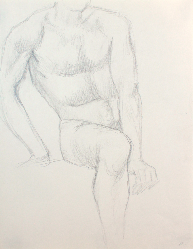 ND, Seated Male Nude, pencil, 12x9, PPS 845.JPG