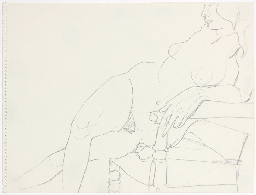 ND, Seated Model with Legs Crossed, Pencil, 11x14, PPS 891.jpg