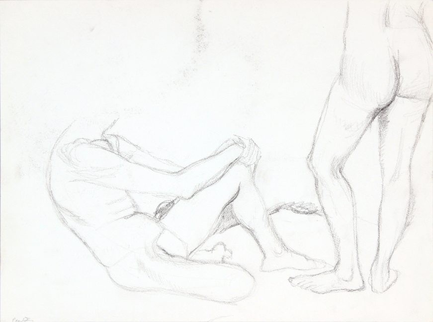 ND, Seated Model and Standing Model, Graphite, 15x20, PPS 886.JPG