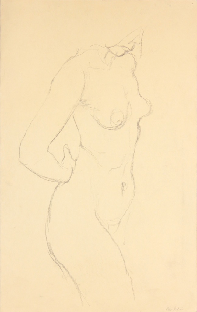 ND, Standing Female Nude, Graphite, 19x12, PPS 887.JPG