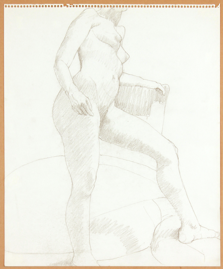 ND, Standing Female Nude with Leg Outstretched, Pencil, 17x14, PPS 916.jpg