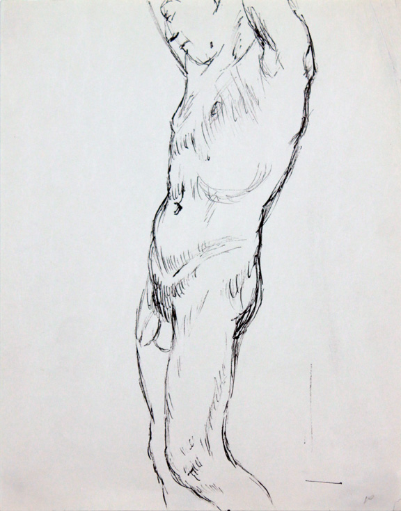 ND, Standing Male Nude #2, ink, 12x9, PPS 854.jpg