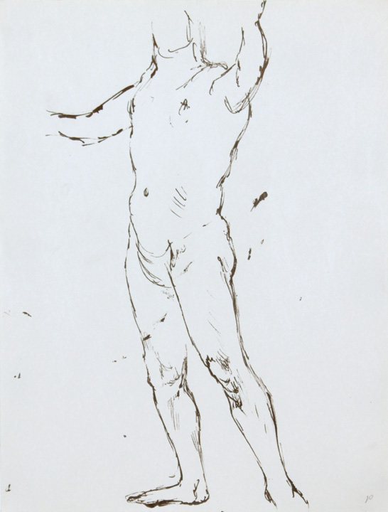 ND, Standing Male Nude, Ink, 12x9, PPS 866.jpg