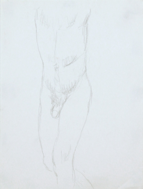 ND, Standing Male Nude, Pencil, 12x9, PPS 861.jpg