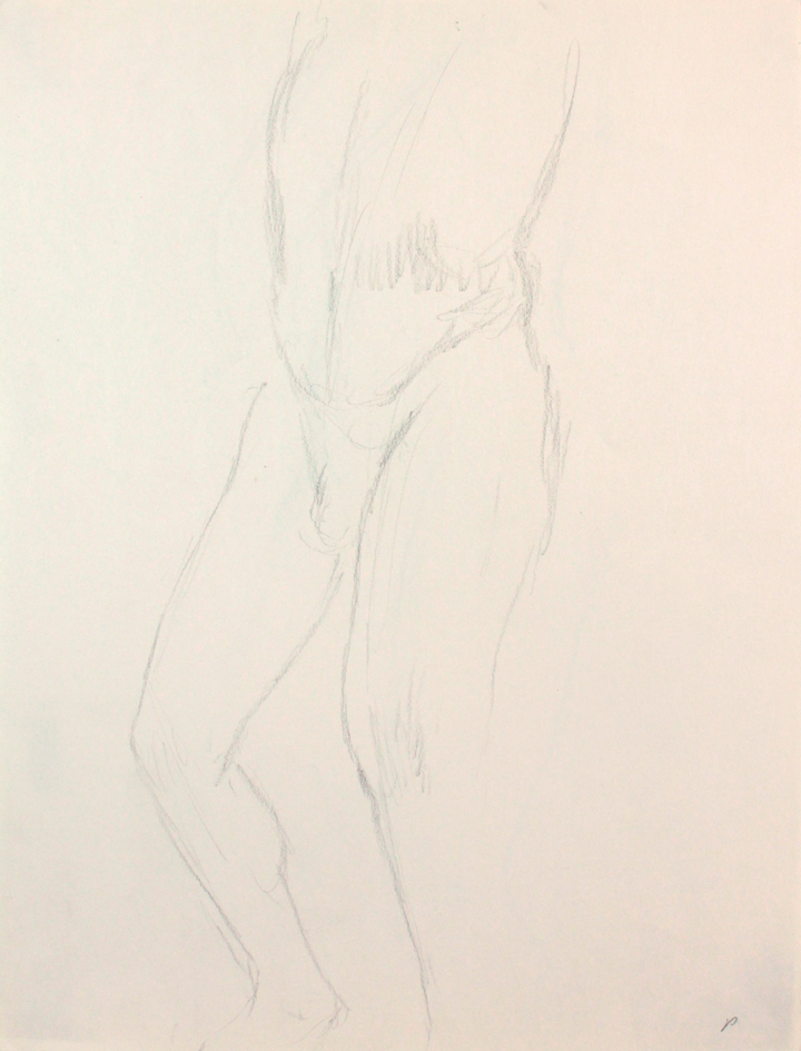 ND, Standing Male Nude Leg Bent, Pencil, 12x9, PPS 848.JPG