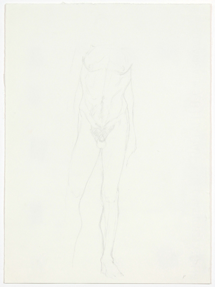 ND, Standing Male Nude, Pencil, 13x9.5, PPS 870.jpg