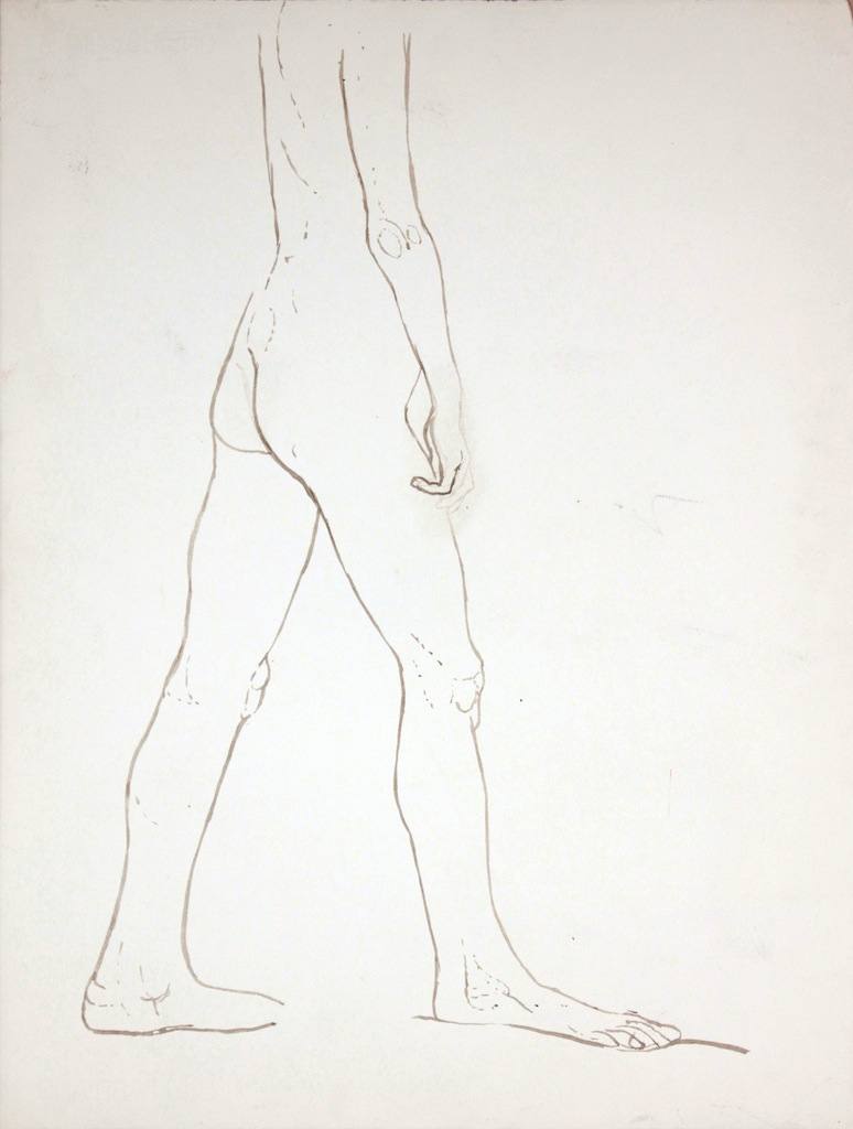 ND, Standing Nude, Wash, 27.25x20.625, PPS 888.jpg