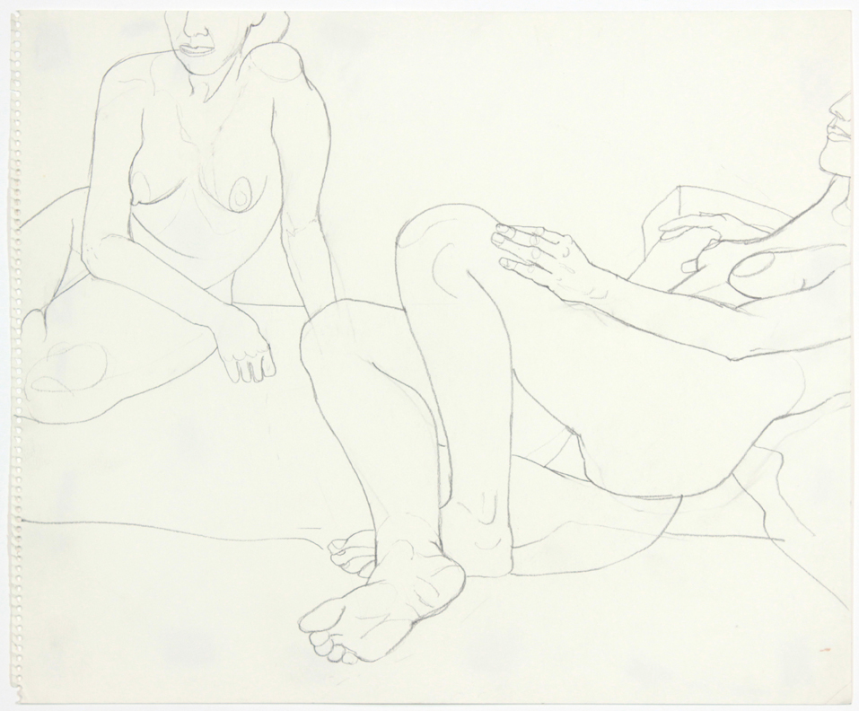 ND, Two Female Models Seated, Pencil, 14x17, PPS 908.jpg
