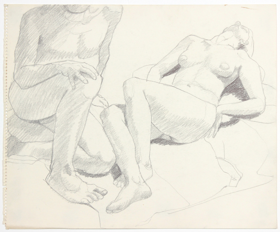 ND, Two Models, One Reclined, Pencil, 14x16.875, PPS 904.jpg