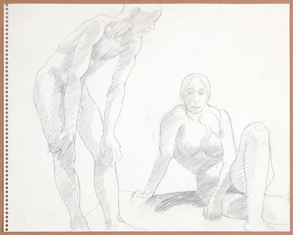 1964-65, Male Leaning Forward, Seated Female, Graphite, 13.75x16.875, PPS 921.jpg