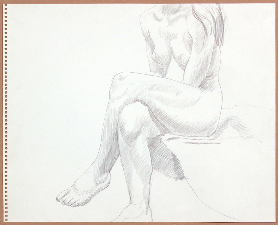 1964-65, Seated Female with Legs Crossed, Graphite, 13.75x17, PPS 919.jpg