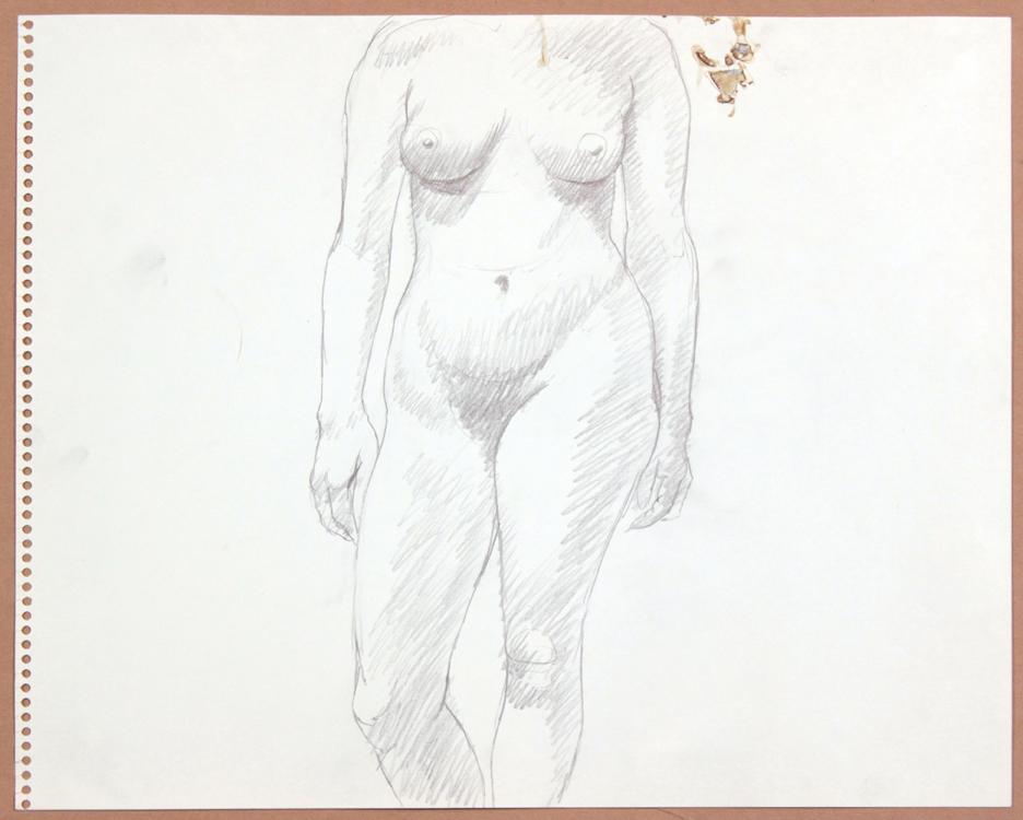 1964-65, Standing Female, Graphite, 13.75x17, PPS 920.jpg