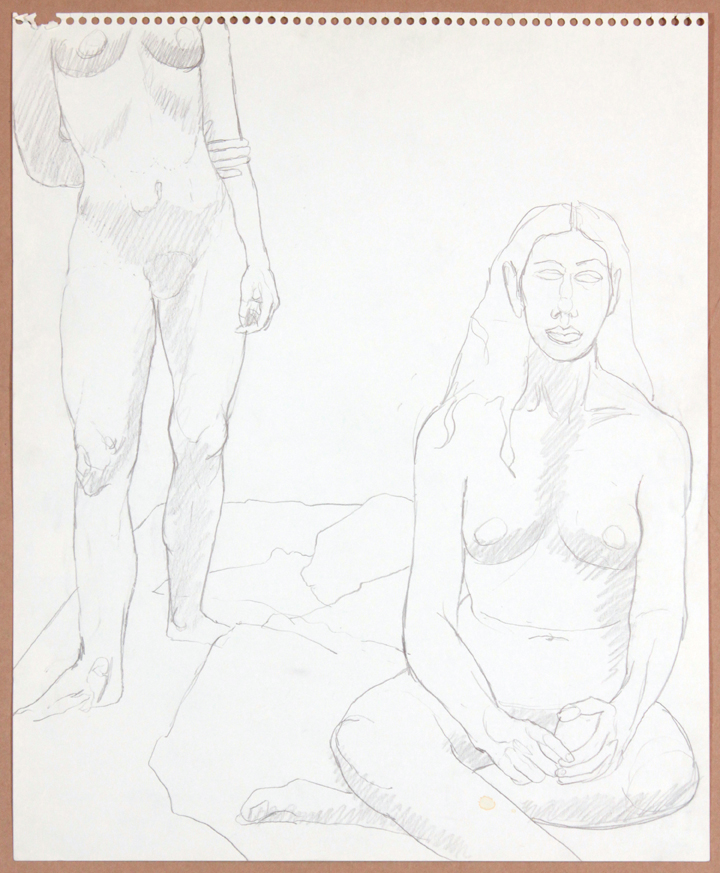 1964-65, Two Female Models, One Sitting, Graphite, 17x13.75, PPS 924.jpg