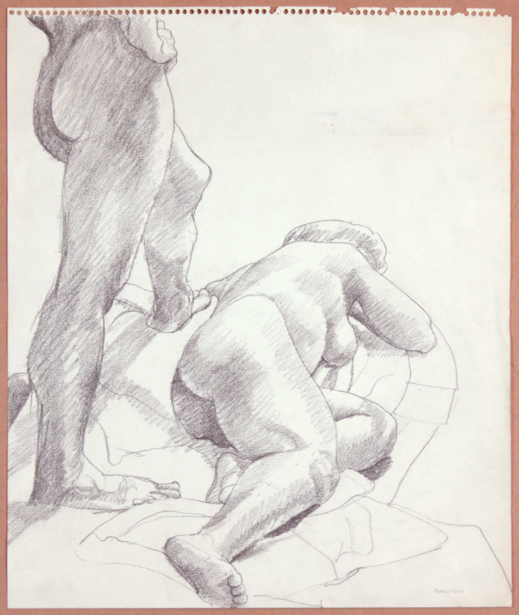 1964-65, Two Models, One Standing, One Reclined, Graphite, 17x14, PPS 922.jpg