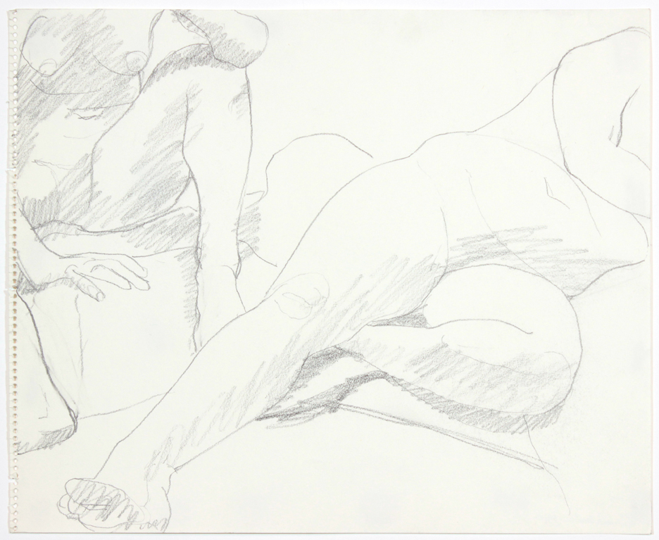 1960s, Two Female Models in Studio, Pencil, 14x17, PPS 900.jpg