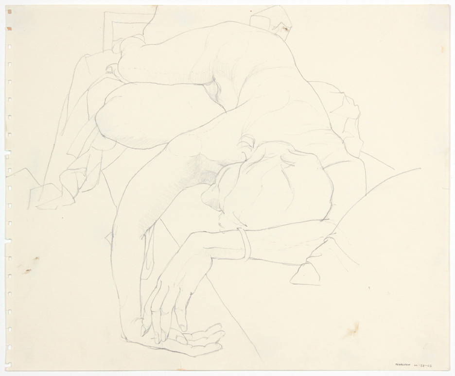 1962, Reclined Female Model, Pencil, 13.875x16.75, PPS 905.jpg