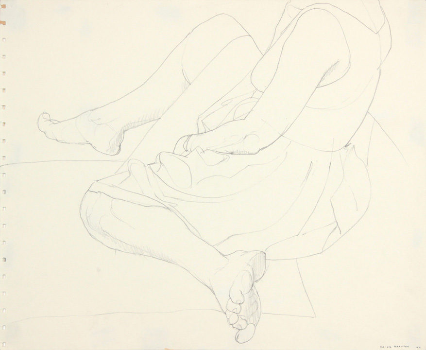 1962, Seated Model in Dress, Pencil, 13.875x16.75, PPS 902.jpg