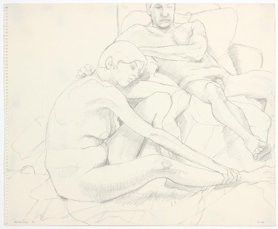 1962, Seated Female and Reclining Male in Armchair, Pencil, 14 x17, PPS 901.jpg