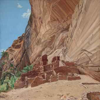 White House Ruin, Canyon de Chelly - Afernoon , 1975 Oil on canvas 59.5 x 59.5 in