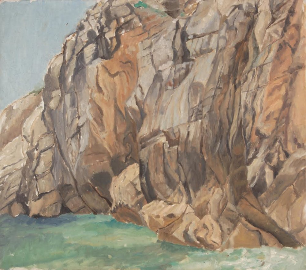 Cliff at Massa Lubrense (I) , 1973 Oil on Canvas  28 x 32 in