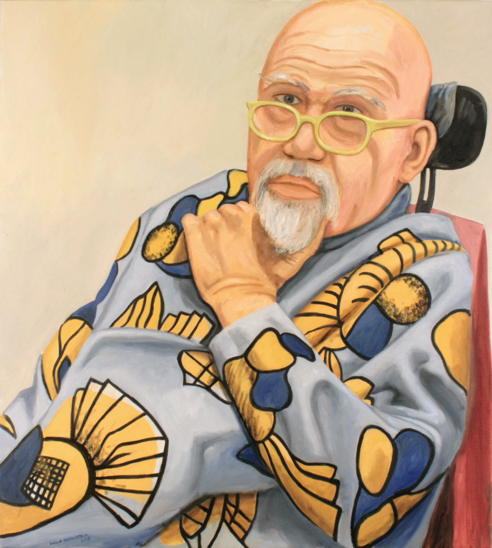 Portrait of Chuck Close , 2015 Oil on Canvas 39.75 x 35.875 in