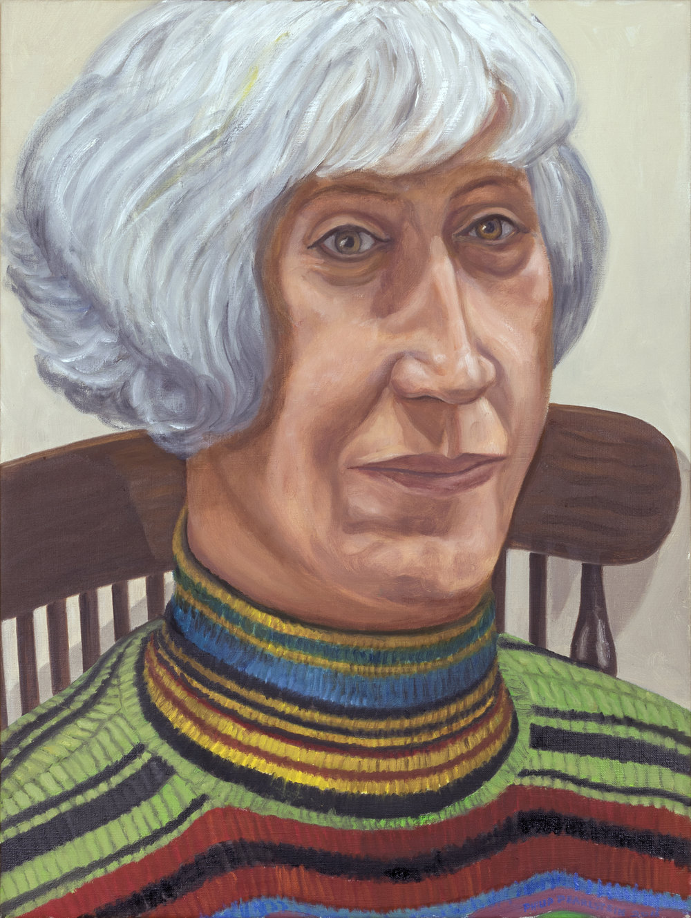 Portrait of Mary Mulder,  2016 Oil on canvas 24 x 18 in