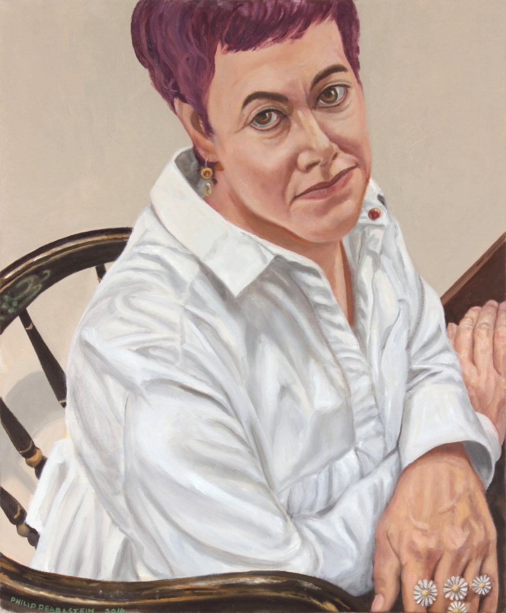 Portrait of Elene Varin , 2016 Oil on Canvas 23 x 19 in