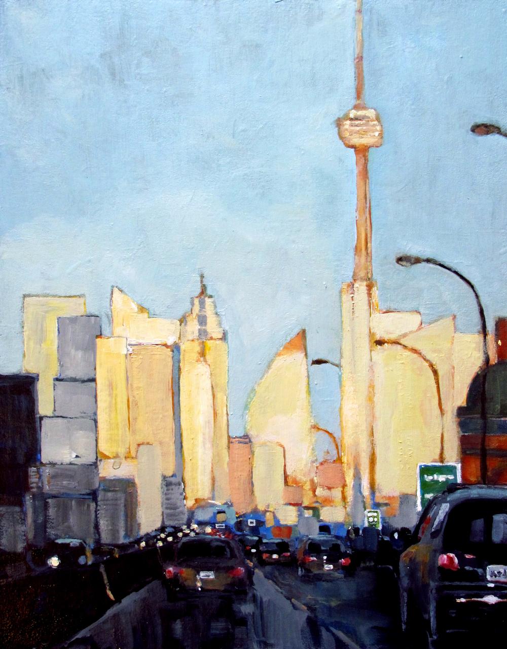 Toronto before sunset