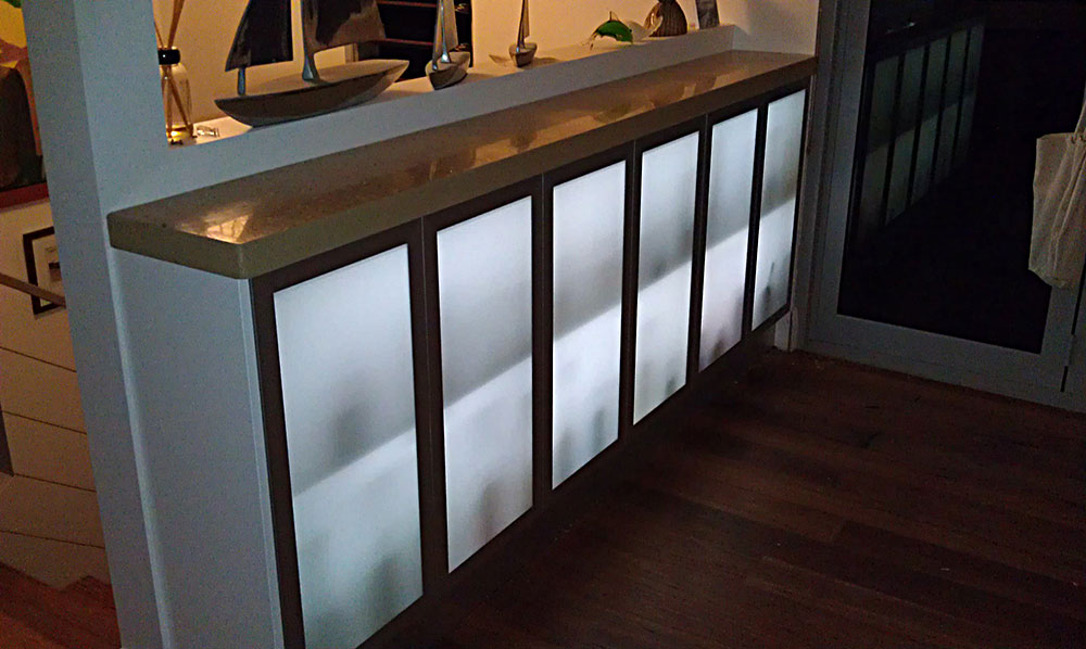LED Illuminated Wine Cabinet
