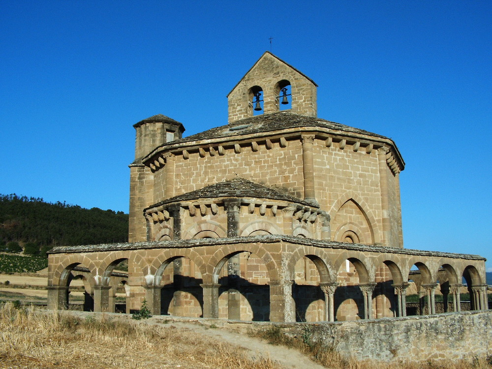 Santa Maria de Eunate just before Puenta La Reina